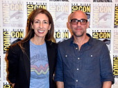 Executive producers Jennifer Johnson and Marcos Siega attend FOX's 'The Following' press line during ComicCon International 2014 at Hilton Bayfront...