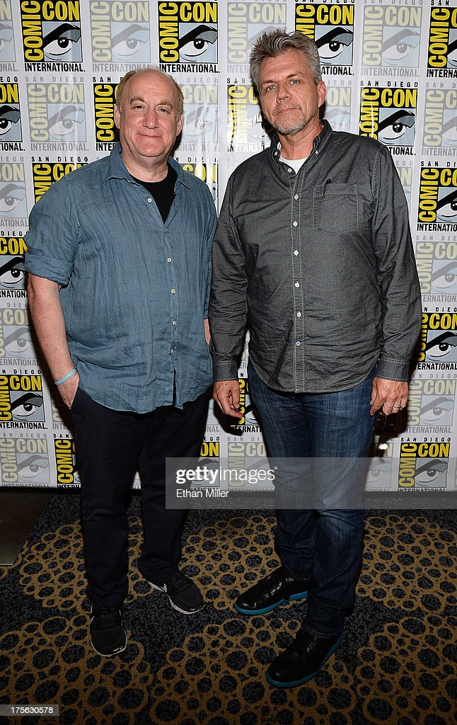 Executive producers Jeph Loeb (L) and Jeffrey Bell attend Marvel's 'Agents of S.H.I.E.L.D.' press line at the Hilton San Diego Bayfront Hotel on July 19, 2013 in San Diego, California.