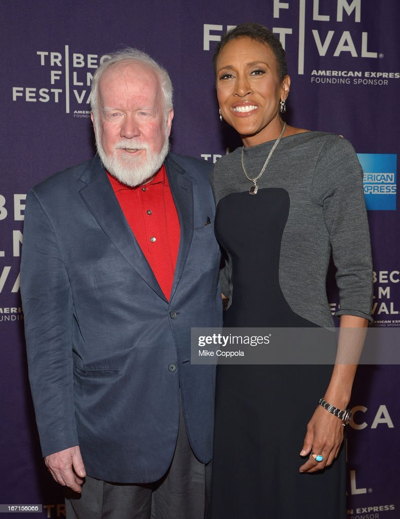 Executive producers John Walsh and Robin Roberts attend the ESPN world premiere of 'Let Them Wear Towels' on April 21 2013 in New York City