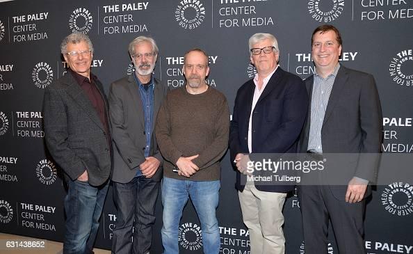 Executive Producers Jon Amiel Peter Mattei Paul Giamatti and Peter Tolan and WGN America President Matt Cherniss attend the PaleyLive LA premiere of...