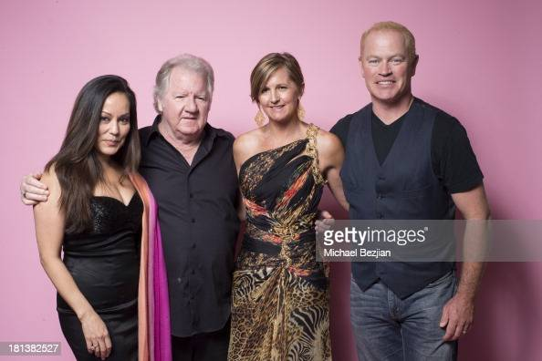 Executive producers Lisa Lew and Peter Brennan pose with Televesion Executive Debra Weeks and Actor Neal McDonough at the Mark Kearney Group 'Iced...
