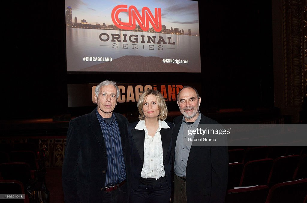 Executive producers Marc Levin, Laura Michalchyshyn and Mark Benjamin attend the 'Chicagoland' series premiere at Bank of America Theater on March 4, 2014 in Chicago, Illinois.