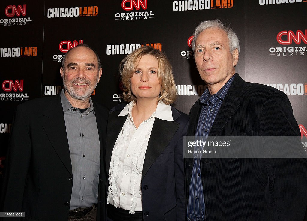 Executive producers Mark Benjamin, Laura Michalchyshyn and Marc Levin attend the 'Chicagoland' series premiere at Bank of America Theater on March 4, 2014 in Chicago, Illinois.