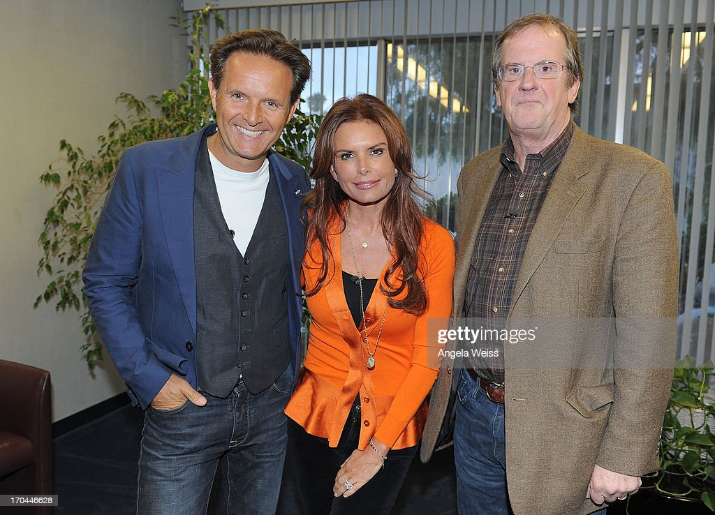 Executive producers Mark Burnett, Roma Downey and Pete Hammond attend a special event for History's 'The Bible' at Harmony Gold Theatre on June 12, 2013 in Los Angeles, California.