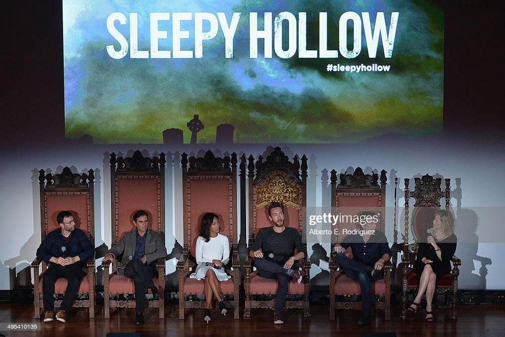 Executive producers Mark Goffman, Roberto Orci, actress Nicole Beharie, actor Tom Mison, executive producers Len Wiseman and Heather Kadin attend a special screening of Fox's 'Sleepy Hollow' at Hollywood Forever on June 2, 2014 in Hollywood, California.