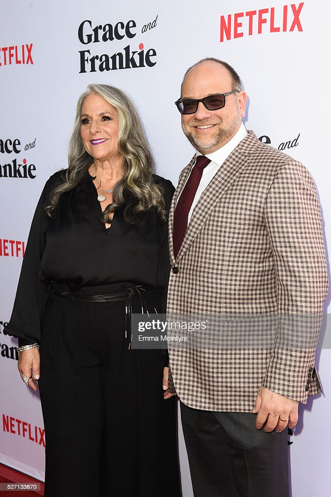 Executive producers Marta Kauffman (L) and Howard J. Morris arrive at the Netflix Original Series 'Grace & Frankie' Season 2 premiere at Harmony Gold on May 1, 2016 in Los Angeles, California.