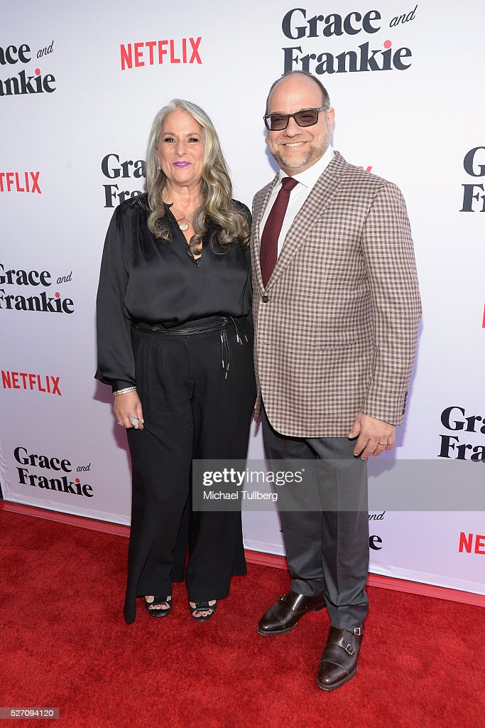 Executive Producers Marta Kauffman and Howard J. Morris attend the premiere of Season 2 of the Netflix Original Series 'Grace & Frankie' at Harmony Gold on May 1, 2016 in Los Angeles, California.