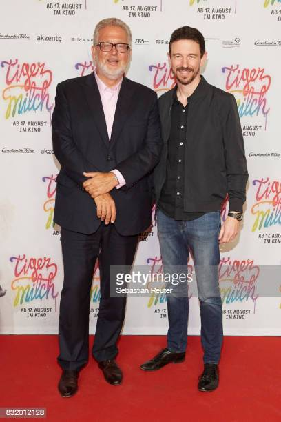 Executive producers Martin Moszkowicz and Oliver Berben attends the 'Tigermilch' premiere at Kino in der Kulturbrauerei on August 15 2017 in Berlin...