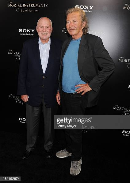 Executive producers Michael Lynne and Bob Shaye arrive at the Los Angeles premiere of 'The Mortal Instruments City Of Bones' at ArcLight Cinemas...