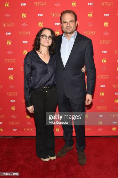Executive producers Nina Jacobson and Brad Simpson attend 'The Assassination Of Gianni Versace American Crime Story' New York Screening at Metrograph...