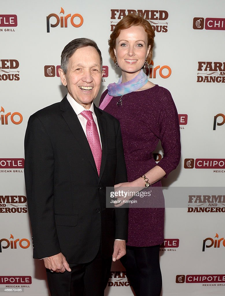 Executive Producers of the documentary 'GMO OMG' Dennis Kucinich and Elizabeth Kucinich walk the red carpet at the world premiere of 'Farmed and...