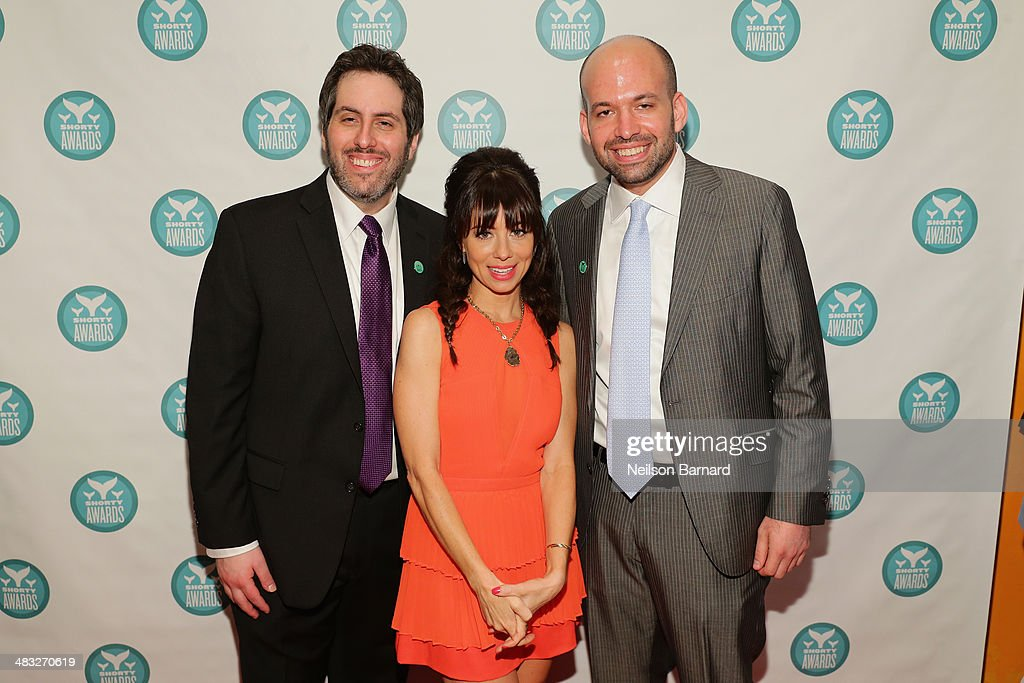 Executive Producers of the Shorty Awards Lee Semel (L) and Greg Galant (R) pose with host <a gi-track='captionPersonalityLinkClicked' href=/galleries/search?phrase=Natasha+Leggero&family=editorial&specificpeople=4760301 ng-click='$event.stopPropagation()'>Natasha Leggero</a> at the 6th Annual Shorty Awards on April 7, 2014 in New York City.