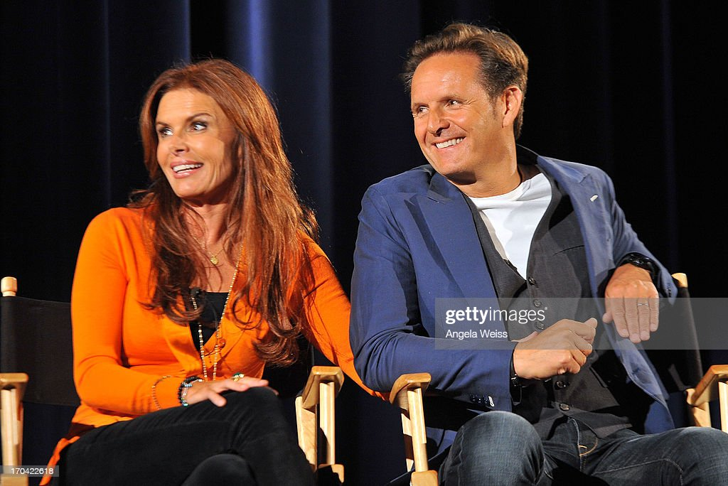 Executive Producers Roma Downey and Mark Burnett attend a special event for History's 'The Bible' at Harmony Gold Theatre on June 12, 2013 in Los Angeles, California.