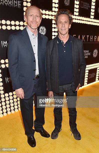 Executive Producers Ron Howard and Brian Grazer attend National Geographic Channel's 'Breakthrough' world premiere event at The Pacific Design Center...