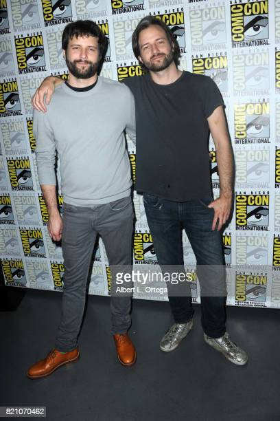 Executive producers Ross Duffer and Matt Duffer at ComicCon International 2017 Netflix's 'Stranger Things' panel at San Diego Convention Center on...