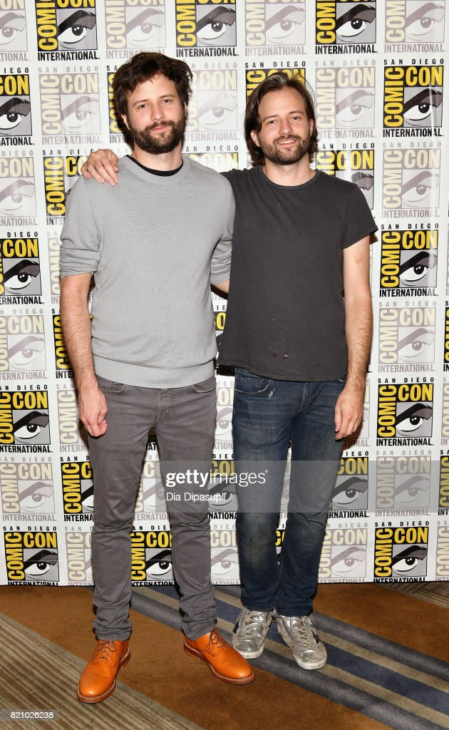 Executive producers Ross Duffer (L) and Matt Duffer at Netflix's 'Stranger Things' Press line during Comic-Con International 2017 at Hilton Bayfront on July 22, 2017 in San Diego, California.