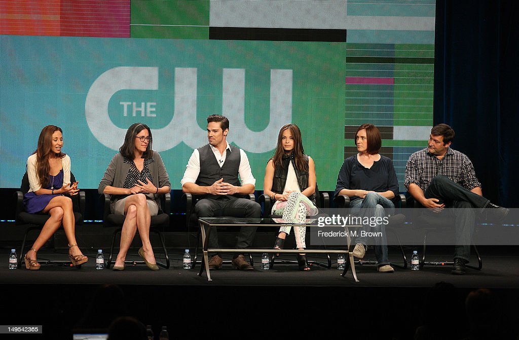 Executive producers Sherri Cooper Jennifer Levin actors Jay Ryan Jennifer Levin executive producers Kelly Souders and Brian Peterson speak at the...