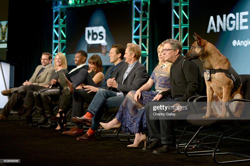 Executive producers Steve Carell and Nancy Carell actors Deon Cole Rashida Jones Hayes MacArthur Jere Burns Andree Vermeulen executive producer Ira...