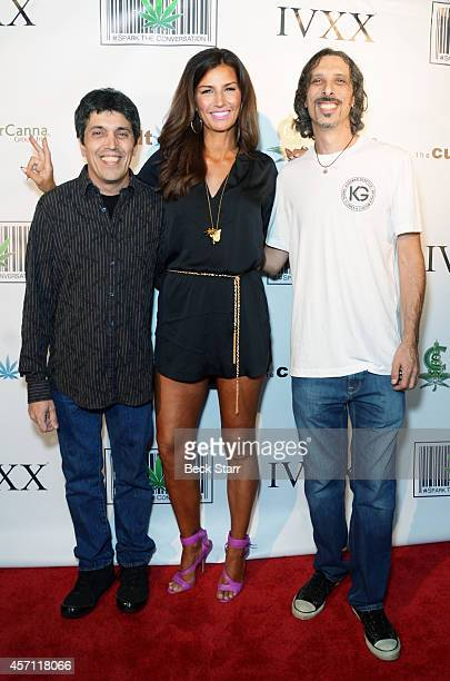 Executive producers Todd McCormick and Bianca Barnhill and master cultivator Kyle Kushman attend the Los Angeles premiere of 'The Culture High' at...
