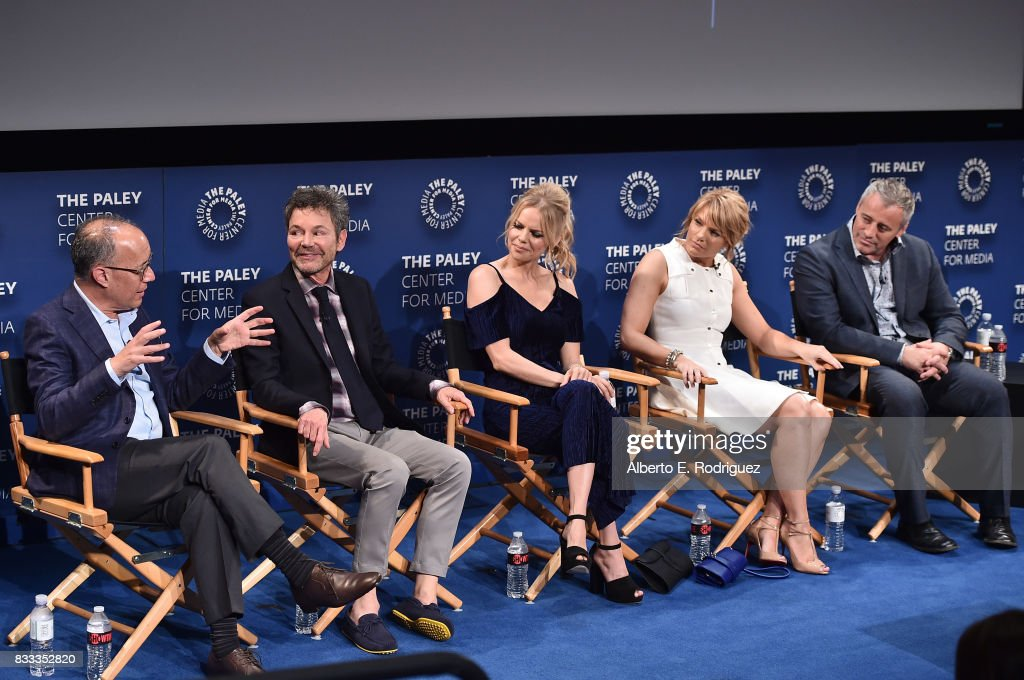 Executive producers/creators David Crane and Jeffrey Klarik, actors Mircea Monroe, Kathleen Rose Perkins and Matt LeBlanc attend the 2017 PaleyLive LA Summer Season Premiere Screening And Conversation For Showtime's 'Episodes' at The Paley Center for Media on August 16, 2017 in Beverly Hills, California.