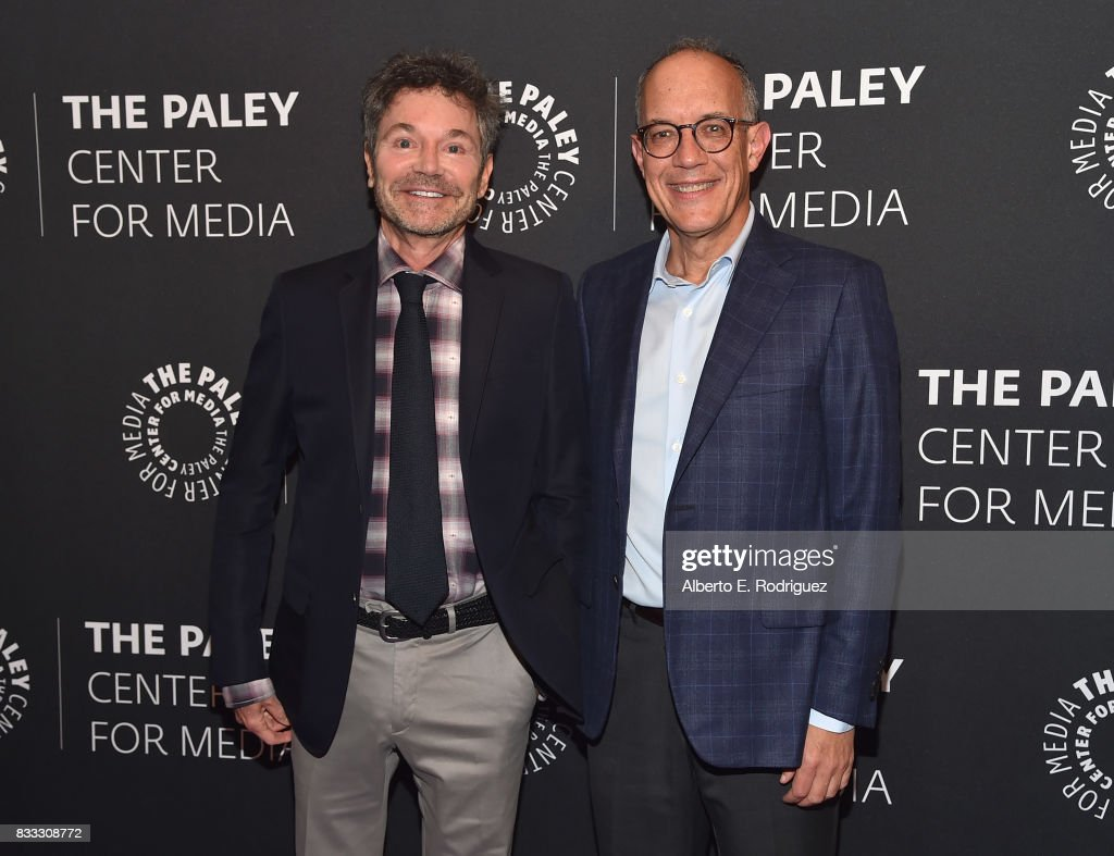 Executive producers/creators Jeffrey Klarik and David Crane attend the 2017 PaleyLive LA Summer Season Premiere Screening And Conversation For Showtime's 'Episodes' at The Paley Center for Media on August 16, 2017 in Beverly Hills, California.
