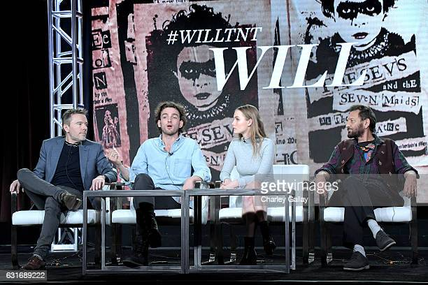 Executive producer/showrunner Craig Pearce actors Laurie Davidson Olivia DeJonge and Executive producer/director Shekhar Kapur of 'Will' speak...