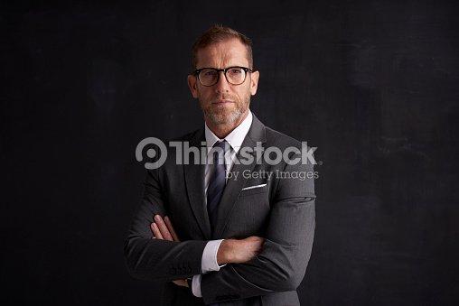 Executive senior businessman portrait : Stock Photo
