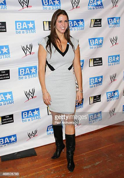 Executive Stephanie McMahon attends the 'Be A STAR' bullying prevention rally hosted by WWE and the Creative Coalition at James Madison Middle School...
