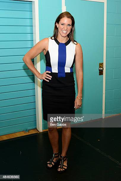 WWE executive Stephanie McMahon attends the WWE Facebook Dosomethingorg and GLAAD AntiBullying Event at Kips Bay Boys Girls Club on August 20 2015 in...