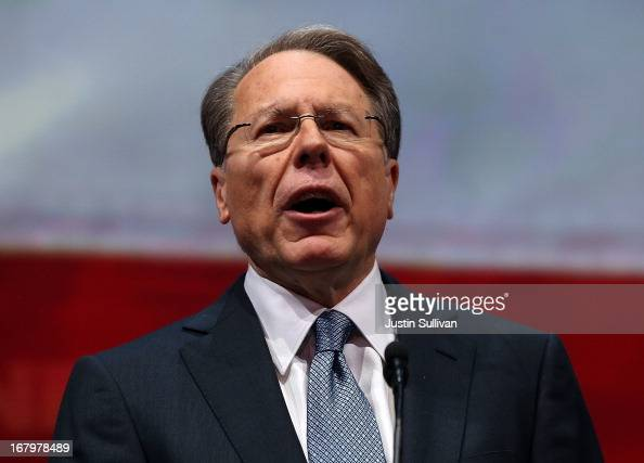 NRA executive vice president and CEO Wayne LaPierre speaks during the 2013 NRA Annual Meeting and Exhibits at the George R Brown Convention Center on...