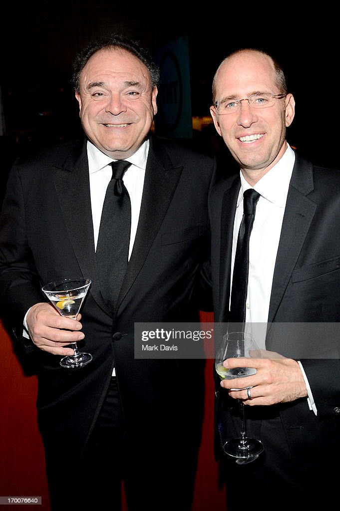 Executive Vice President and Chief Communications Officer, CBS Corporation Gil Schwartz (L) and producer <a gi-track='captionPersonalityLinkClicked' href=/galleries/search?phrase=Greg+Garcia+-+Producer&family=editorial&specificpeople=15096031 ng-click='$event.stopPropagation()'>Greg Garcia</a> attend AFI's 41st Life Achievement Award Tribute to Mel Brooks at Dolby Theatre on June 6, 2013 in Hollywood, California. 23647_005_MD_0216.JPG