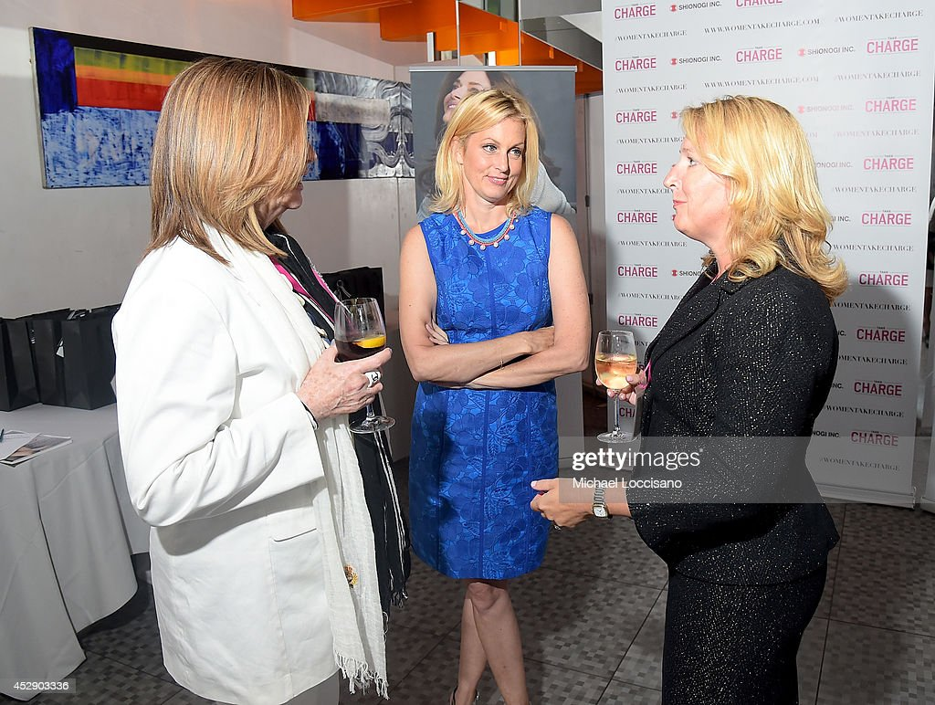 Executive Vice President and Chief Operating Officer of Shionogi Inc Deanne Melloy, comedian Ali Wentworth and guest attend Comedian Ali Wentworth Teams Up with Shionogi Inc. to Launch 'Women Take Charge' Campaign at Robert Restaurant on July 29, 2014 in New York City.