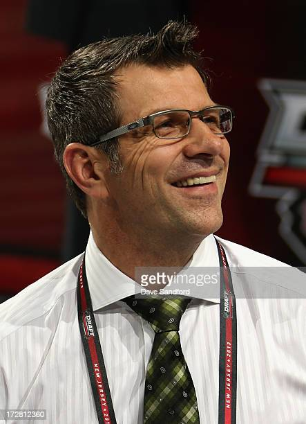 Executive Vice President and General Manager Marc Bergevin of the Montreal Canadiens attends the 2013 NHL Draft at Prudential Center on June 30 2013...