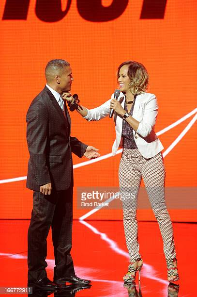 Executive Vice President and General Manager of Centric Paxton K Baker and actress Nicole Ari Parker speak onstage at the BET Networks 2013 New York...