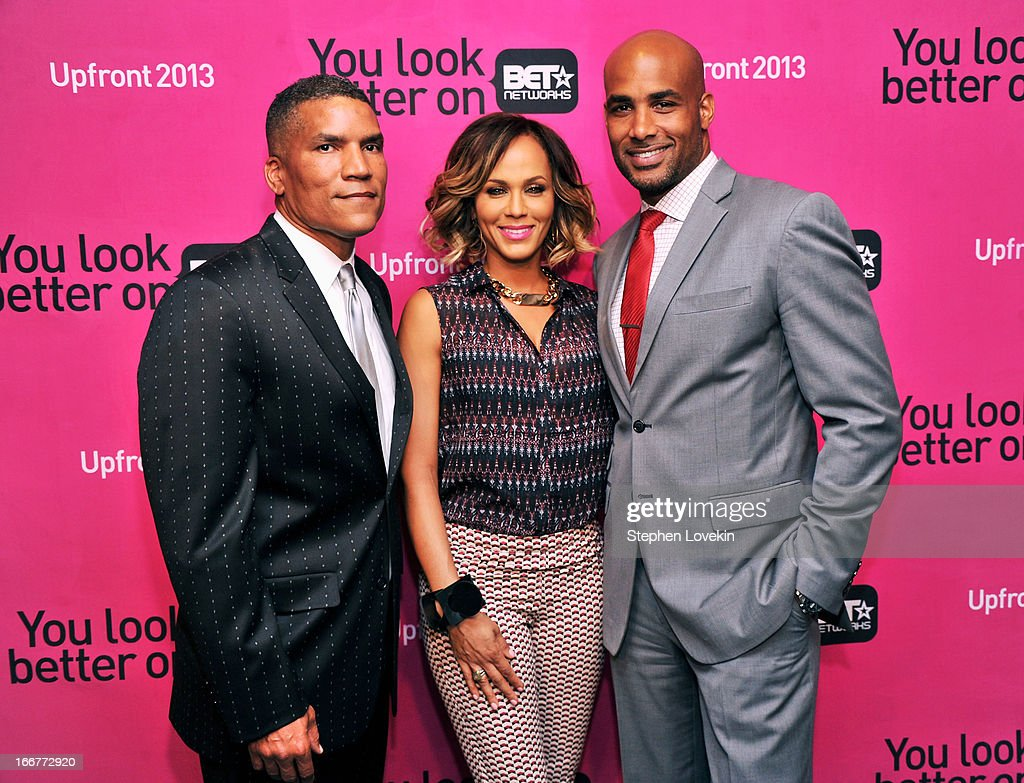 Executive Vice President and General Manager of Centric Paxton K. Baker, and actors Nicole Ari Parker and Boris Kodjoe attend the BET Networks 2013 New York Upfront on April 16, 2013 in New York City.