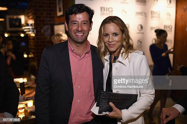 Executive Vice President and General Manager of Lifetime Rob Sharenow actress Maria Bello attend Lifetime's 'BIG DRIVER' red carpet screening with...