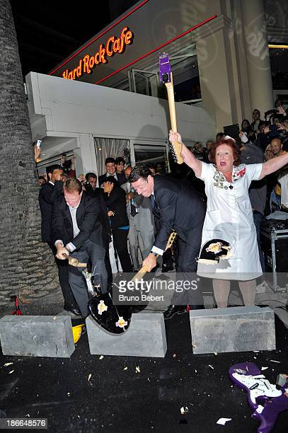 Executive Vice President of Hard Rock Cafe International operations Fred Thimm French Deputy and mayor of Nice Christian Estrosi and First waitress...