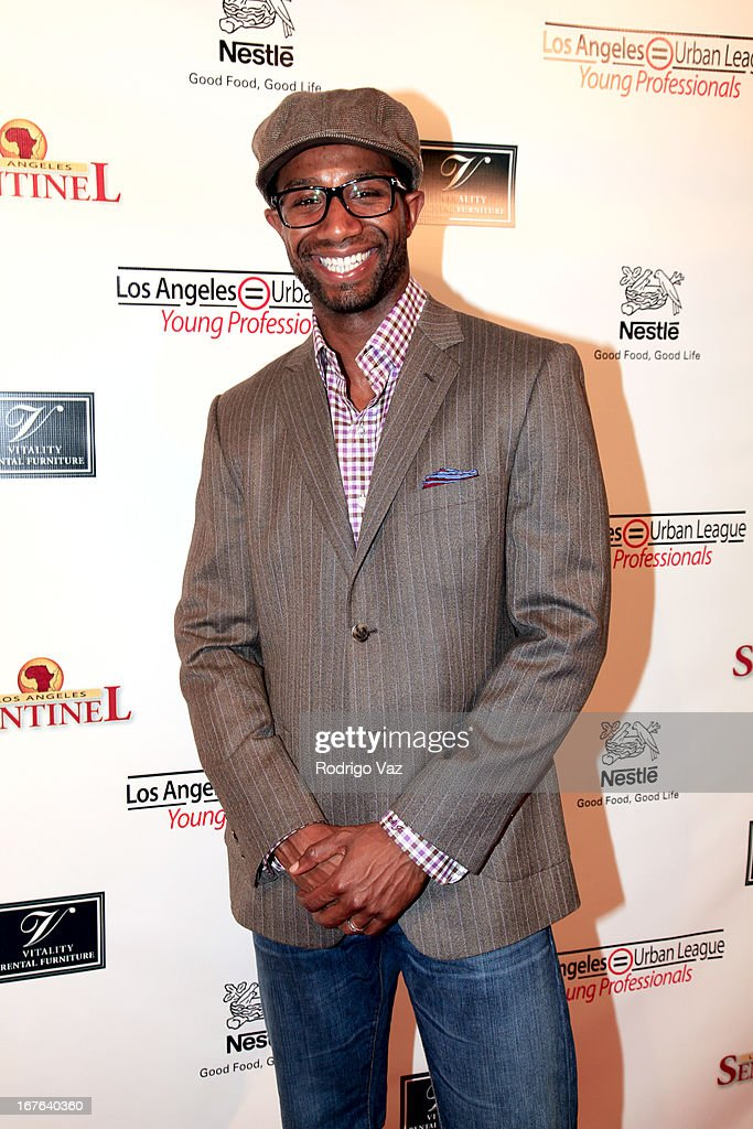 Executive Vice President of Magic Johnson Enterprises Andre Johnson arrives at the 3rd Annual 'To The Nines' After Party Hosted By LA Urban League Young Professionals at The Beverly Hilton Hotel on April 26, 2013 in Beverly Hills, California.