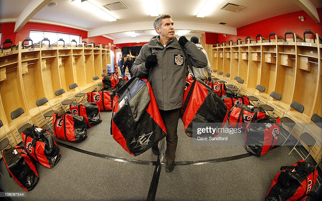 Executive Vice President of Marketing Brian Jennings helps unload equipment at McMahon Stadium during buildout for the 2011 Tim Hortons NHL Heritage...