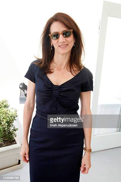 Executive Vice President of NBC Universal Deborah Oppenheimer attends the Nathalie Dubois PreEmmy Gift Suite at Luxe Hotel on September 17 2011 in...