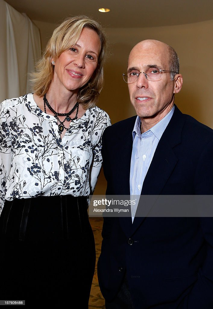 CEO Executive Vice President of Nickelodeon Paula Kaplan and DreamWorks Animation Jeffrey Katzenberg attend the 7th Annual March of Dimes Celebration of Babies, a Hollywood Luncheon, at the Beverly Hills Hotel on December 7, 2012 in Beverly Hills, California.