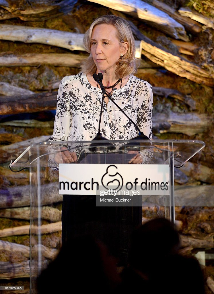 Executive Vice President of Nickelodeon Paula Kaplan speaks onstage during the 7th Annual March of Dimes Celebration of Babies, a Hollywood Luncheon, at the Beverly Hills Hotel on December 7, 2012 in Beverly Hills, California.