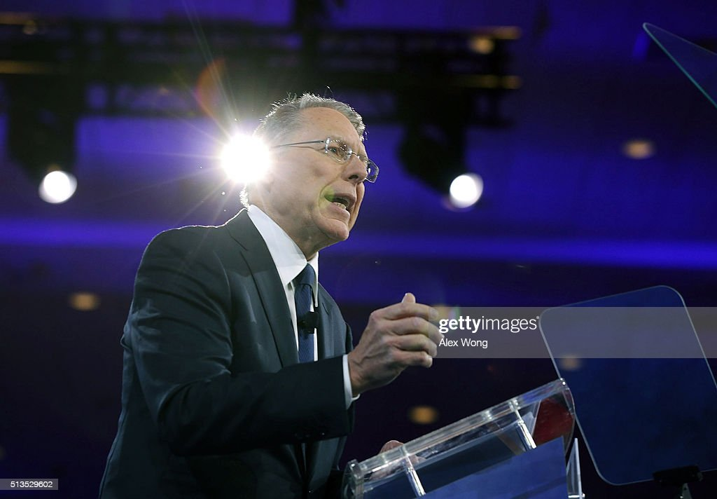Executive Vice President of the National Rifle Association <a gi-track='captionPersonalityLinkClicked' href=/galleries/search?phrase=Wayne+LaPierre&family=editorial&specificpeople=2488494 ng-click='$event.stopPropagation()'>Wayne LaPierre</a> speaks during the Conservative Political Action Conference (CPAC) March 3, 2016 in National Harbor, Maryland. The American Conservative Union hosted its annual Conservative Political Action Conference to discuss conservative issues.
