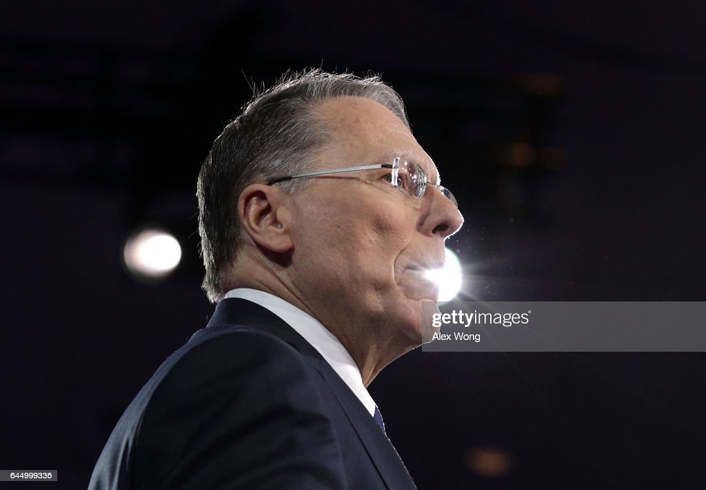 Executive Vice President of the National Rifle Association Wayne LaPierre speaks during the Conservative Political Action Conference at the Gaylord National Resort and Convention Center February 24, 2017 in National Harbor, Maryland. Hosted by the American Conservative Union, CPAC is an annual gathering of right wing politicians, commentators and their supporters.