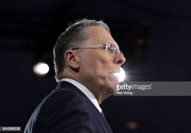 Executive Vice President of the National Rifle Association Wayne LaPierre speaks during the Conservative Political Action Conference at the Gaylord...
