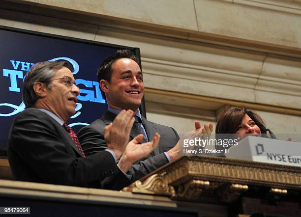 Executive Vice President of the NYSE Larry Leibowitz TV Personality Steven Ward and TV Personality JoAnn Ward ring the opening bell at the New York...