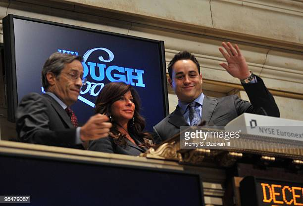 Executive Vice President of the NYSE Larry Leibowitz TV Personality JoAnn Ward and TV Personality Steven Ward ring the opening bell at the New York...