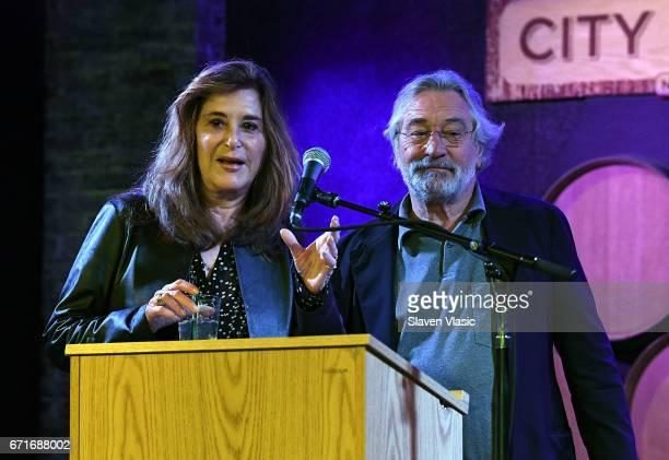 Executive Vice President of Tribeca Enterprises Paula Weinstein and cofounder of Tribeca Film Festival Robert De Niro attend Director's Brunch at...