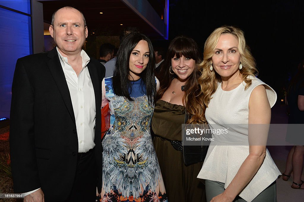Executive Vice President PMC Paul Woolnough, musician Lauren Harris, Director of Event Marketing at Variety Kate Mazzuca and Managing Director of Strategic Partnerships at Variety Brooke Turpin attend British Airways and Variety Celebrate The Inaugural A380 Service Direct from Los Angeles to London and Discover Variety's 10 Brits to Watch on September 25, 2013 in Los Angeles, California.
