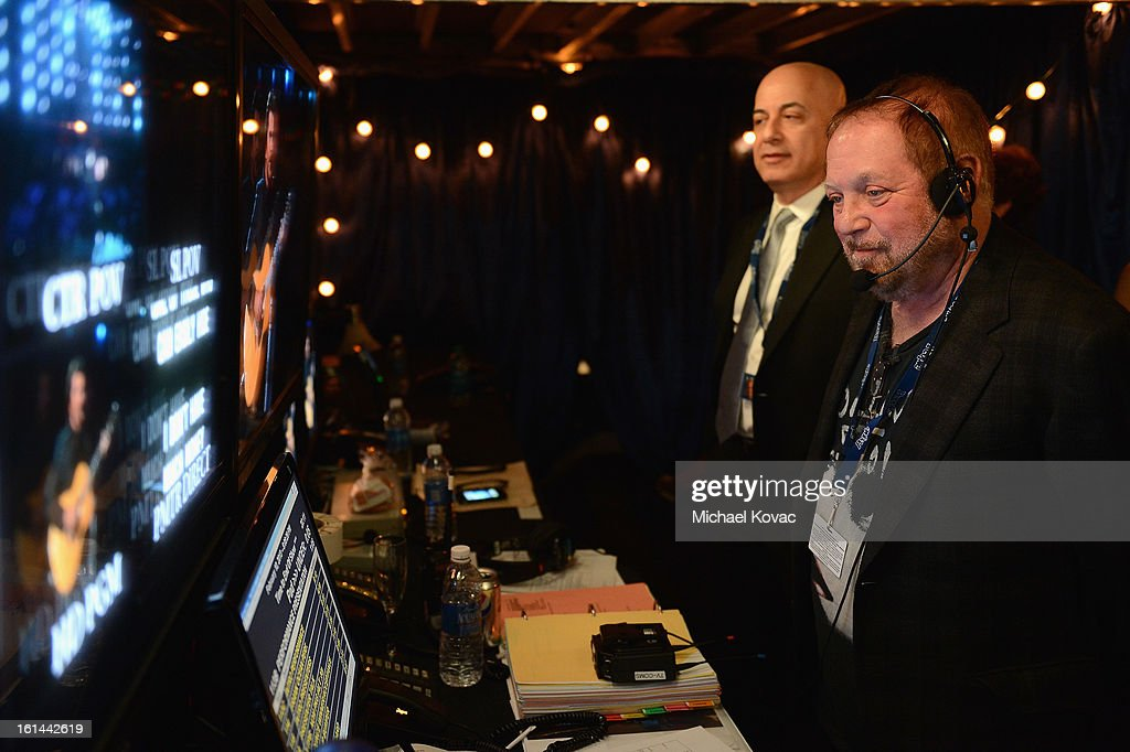 Executive Vice President, Specials, Music and Live Events, CBS Entertainment, Jack Sussman, and Producer Ken Ehrlich attend he 55th Annual GRAMMY Awards at STAPLES Center on February 10, 2013 in Los Angeles, California.